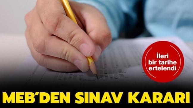 MEB açık  öğretim ortaokul ve lise sınavları ertelendi
