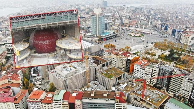 Taksim'in simgesi AKM hızla yükseliyor