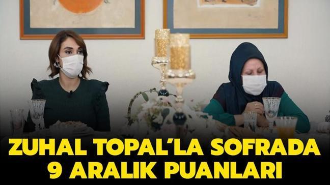 Zuhal Topal'la Sofrada 9 Aralık puan durumu: Zuhal Topal'la Sofrada puanları!