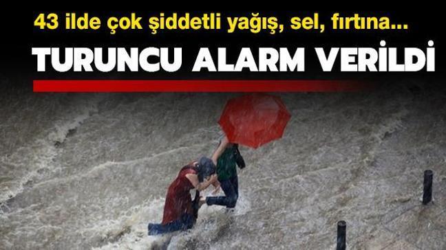 Meteorolojiden son dakika yağış, sel ve fırtına uyarısı: İstanbul dahil 42 ilde turuncu alarm verildi