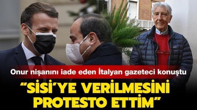 Fransız onur nişanını iade etmişti... İtalyan gazeteci Augias: Sisi'ye verilmesini protesto ettim