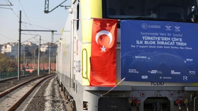 Çin ihracat treni yolculuğunu tamamladı