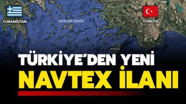 Son dakika haberi: Türkiye Rodos adasının güneyinde NAVTEX ilan etti