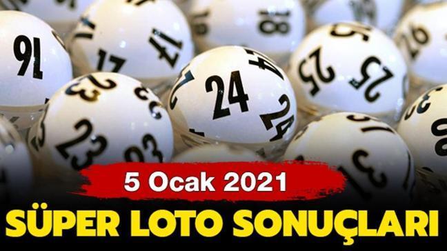 Süper Loto 5 Ocak 2021 sonuçları
