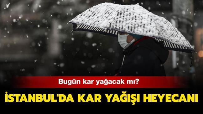 """İstanbul'da kar yağışı saat kaçta başlayacak"""" Bugün kar yağacak mı"""""""