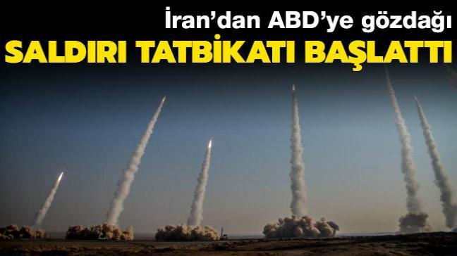 İran'dan ABD'ye gözdağı... Saldırı tatbikat başlattı
