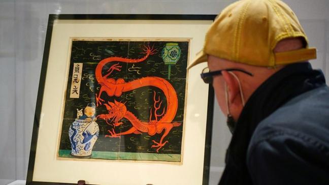 Orijinal Tenten karikatürü 3.2 milyon Euro'ya satıldı