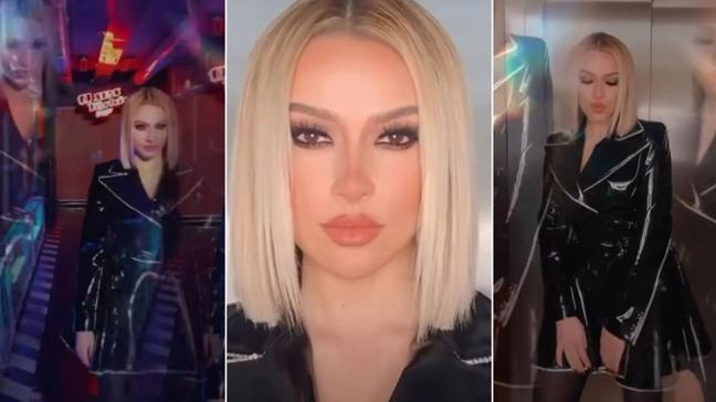 Hadise O Ses Türkiye Rap için imaj değiştirdi! İddialı deri kıyafeti ile sosyal medyaya damga vurdu