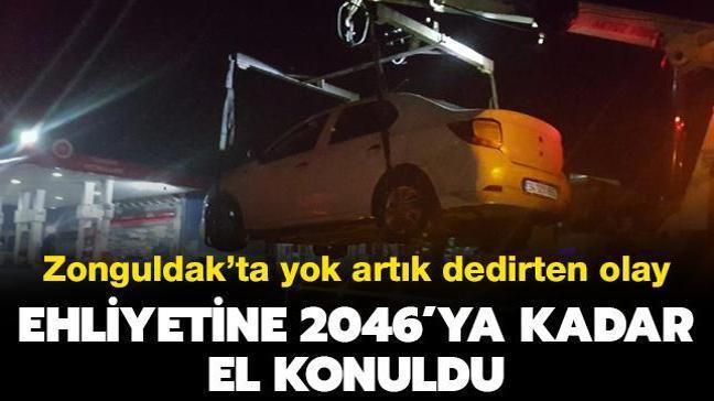 Zonguldak'da yok artık dedirten olay: Ehliyetine 2046'ya kadar el konuldu