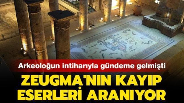 Arkeoloğun intiharıyla gündeme gelmişti: Zeugma'nın kayıp eserleri aranıyor