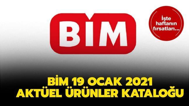 """BİM'e bugün neler geliyor"""" BİM 19 Ocak 2021 Salı aktüel ürünler kataloğu yayında!"""