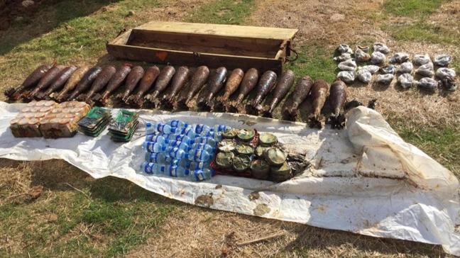 Tel Abyad'da terör örgütü PKK/YPG'ye ait 78 kilo patlayıcı ele geçirildi