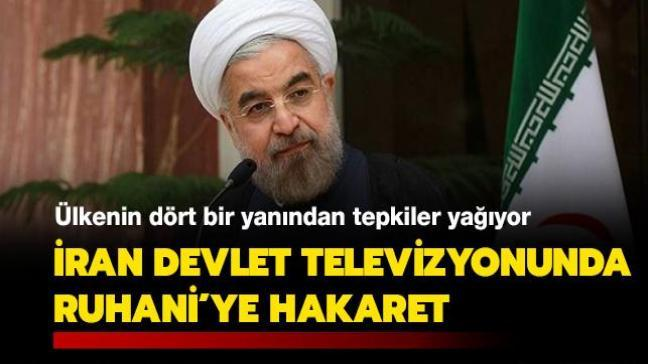 İran devlet televizyonunda Ruhani'ye hakaret: Uyuşturucu madde kullanıcısı
