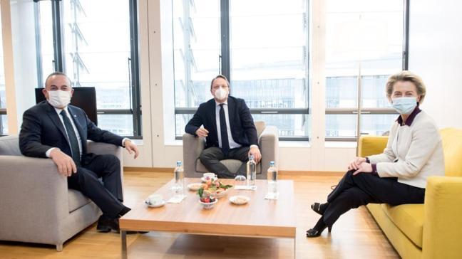 Son dakika haberleri... Bakan Çavuşoğlu, AB Komisyonu Başkanı Leyen ile görüştü
