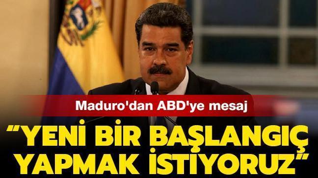 """Venezuela Devlet Başkanı Maduro'dan ABD'ye mesaj: """"Yeni bir başlangıç yapmak istiyoruz"""""""