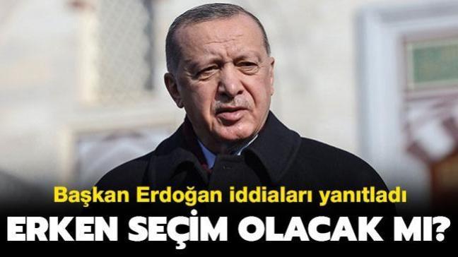 """Başkan Erdoğan iddiaları yanıtladı: Erken seçim olacak mı"""""""