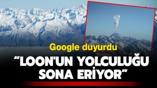 """Google duyurdu: """"Loon'un yolculuğu sona eriyor"""""""