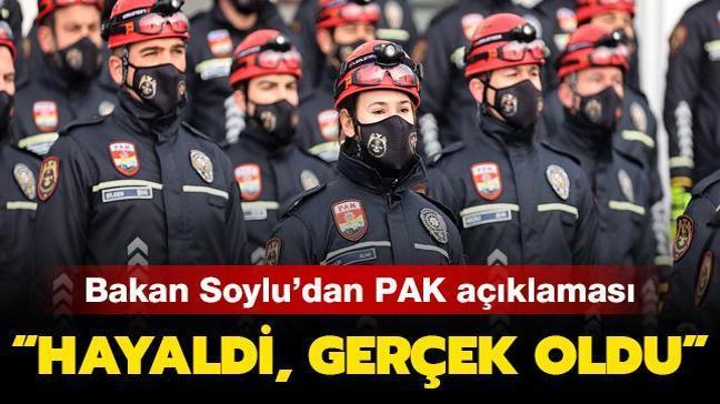 Son dakika haberi: Bakan Soylu'dan PAK açıklaması: Hayaldi ,gerçek oldu