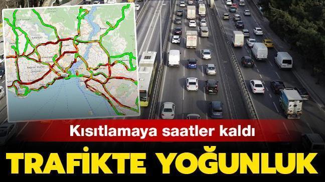 Son dakika haberi... İstanbul'da kısıtlama öncesi trafikte yoğunluk
