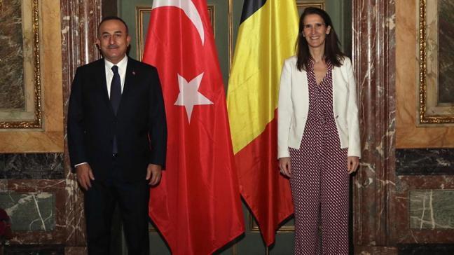 Bakan Çavuşoğlu, Belçika Dışişleri Bakanı Wilmes ile görüştü