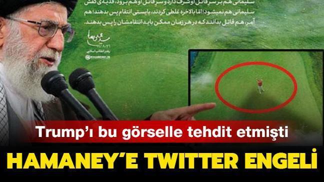 Trump'ı tehdit etmişti: Hameney'e Twitter engeli