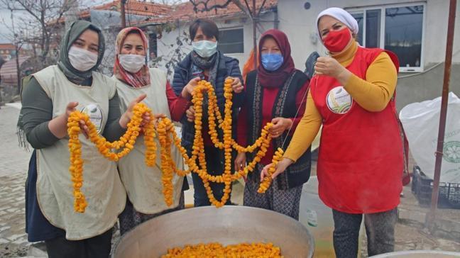 Antalya'da turunç meyveleri kadınların elinde değerleniyor