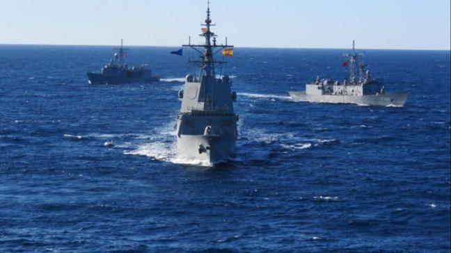 """MSB duyurdu: """"NATO Daimi Deniz Görev Grubu-2 ile TCG GÖKOVA fırkateynimiz Doğu Akdeniz'de geçiş eğitimi icra etti"""""""