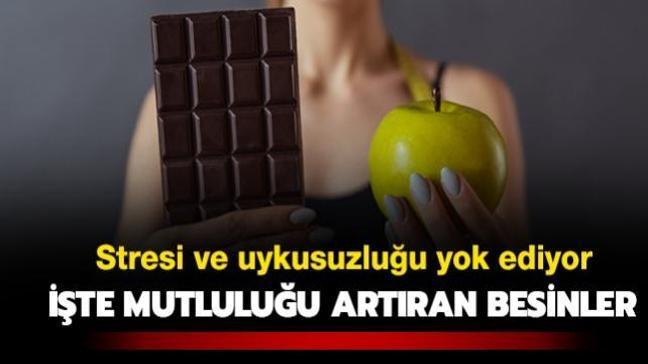 Hafızaya elma, uykusuzluğa çikolata! İşte mutluluğu artıran besinler