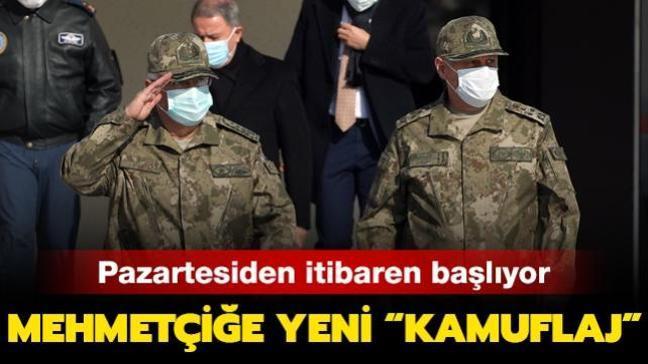 """Pazartesiden itibaren başlıyor: Mehmetçiğe yeni """"kamuflaj"""""""