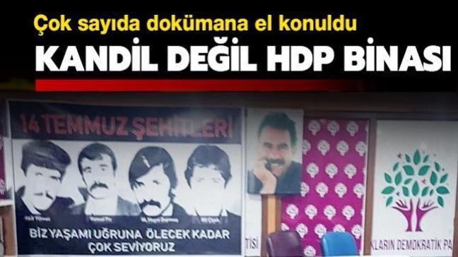 Kandil değil, HDP binası