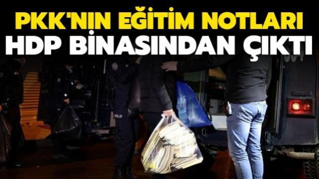 HDP binasından terör örgütü PKK'nın eğitim notları çıktı