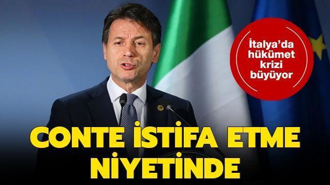 İtalya'da hükümet krizi büyüyor: Conte istifa etme niyetinde