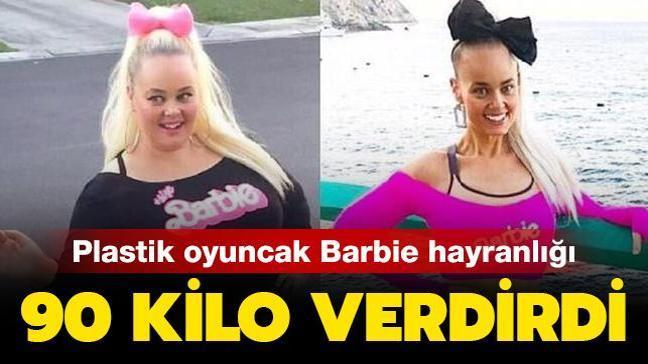 Plastik oyuncak bebek Barbie hayranlığı 90 kilo verdirdi