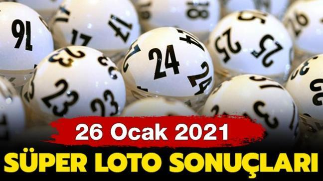 MPİ Süper Loto sonuçları 26 Ocak 2021