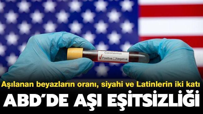 ABD'de aşı eşitsizliği: Aşılanan beyazların oranı, siyahi ve Latinlerin iki katı