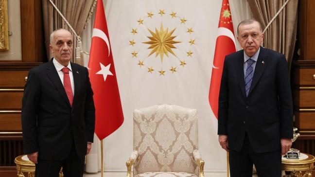 Başkan Erdoğan, Türk-İş Genel Başkanı Atalay'ı kabul etti