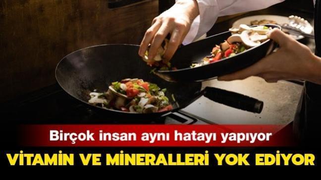 Sebzeleri pişirirken herkes aynı hatayı yapıyor! Vitamin ve mineralleri yok ediyor