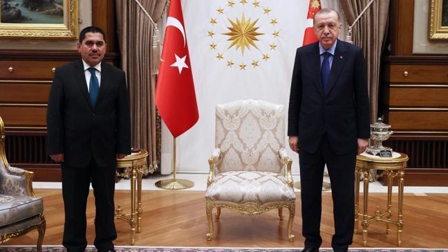Başkan Erdoğan, Afganistan Ulaştırma Bakanı Zeki'yi kabul etti