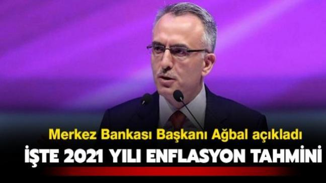 """TCMB Başkanı Ağbal yılın ilk enflasyon raporunu açıkladı: """"2021 sonunda yüzde 9,4 olarak gerçekleşeceğini tahmin ediyoruz"""""""