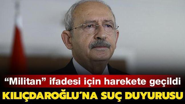 """İçişleri Bakanlığı, """"militan"""" ifadesi nedeniyle Kılıçdaroğlu hakkında suç duyurusunda bulundu"""