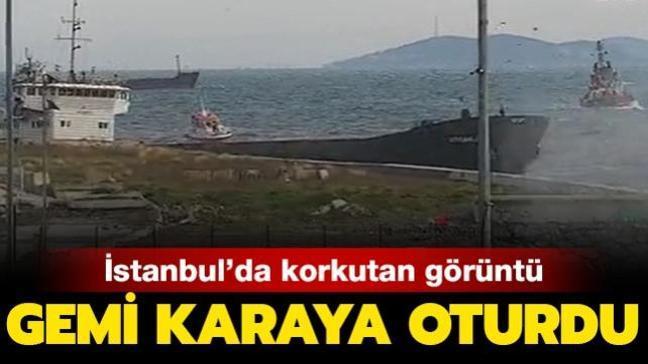 Son dakika haberi: Zeytinburnu'nda fırtına! Gemi karaya oturdu