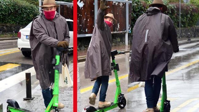 Elektrikli scooter kullanan Sinan Albayrak: Düşerken falan çekmeyin beni