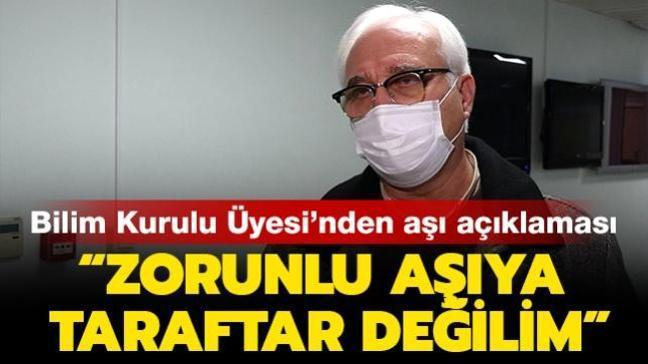 """Bilim Kurulu Üyesi Prof. Dr. Özlü'den aşı açıklaması: """"Zorunlu aşıya taraftar değilim"""""""
