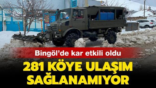 Bingöl kar etkili oldu: 281 köye ulaşım sağlanamıyor