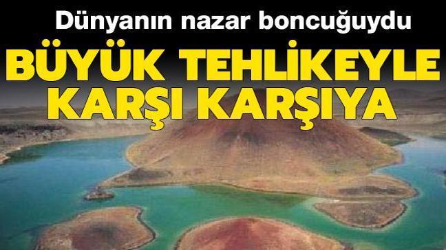 'Dünyanın nazar boncuğu' Meke Gölü'nde büyük tehlike