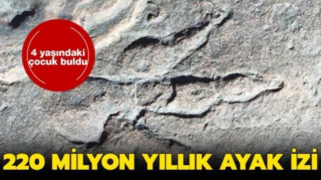 4 yaşındaki çocuk buldu... 220 milyon yıllık ayak izi