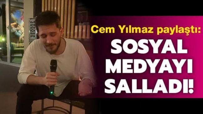 """Cem Yılmaz paylaştı... Uraz Kaygılaroğlu'ndan """"Telefonun başında"""" performansı!"""