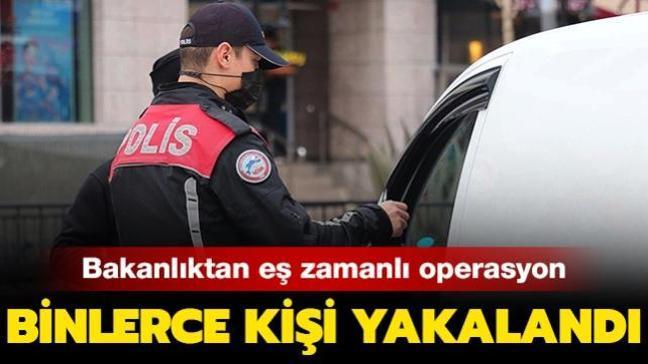 İçişleri Bakanlığı'ndan eş zamanlı operasyon: 2 bin 475 kişi yakalandı