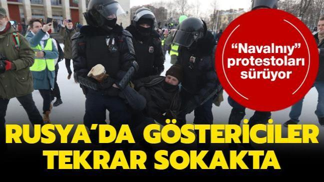"""Rusya ısınıyor... Ülkede """"Navalnıy """"protestoları sürüyor"""