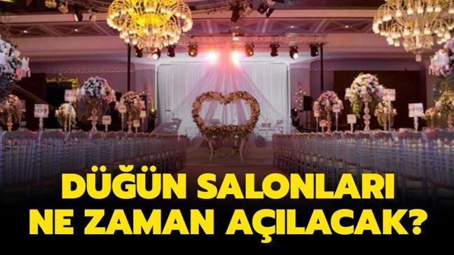 """Düğünler ne zaman başlayacak"""" Düğün salonları, nişan salonları ne zaman açılacak"""""""